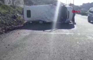 Başakşehir'de buzlanan yolda kaza
