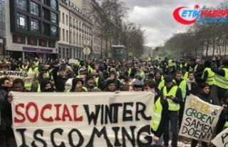 Belçika'da göstericiler sokaklarda