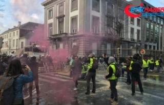 Belçika'da Sarı Yelekliler eylem izni istedi
