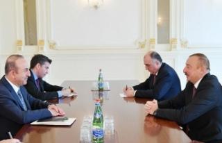 Çavuşoğlu Azerbaycan Cumhurbaşkanı Aliyev ile...