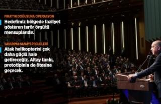 Cumhurbaşkanı Erdoğan: Fırat'ın doğusuna...