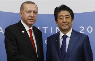 Cumhurbaşkanı Erdoğan, Japonya Başbakanı Abe'yi...