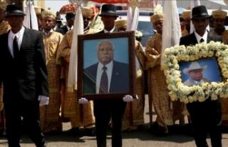 Etiyopya eski Cumhurbaşkanı Woldegiorgis son yolculuğuna...
