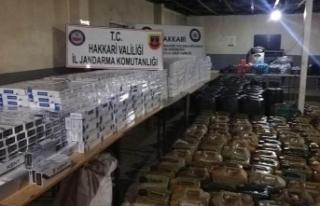Hakkari'de terör örgütü PKK'nın finans...