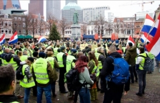 Hollanda'da sarı yeleklilerin gösterisinde...