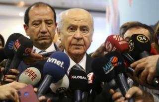 MHP Lideri Bahçeli: MHP'de pazarlık söz konusu...