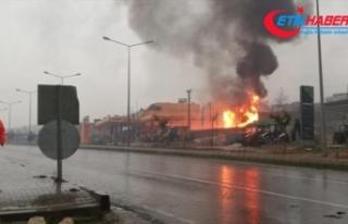 Şanlıurfa'da akaryakıt istasyonunda patlama