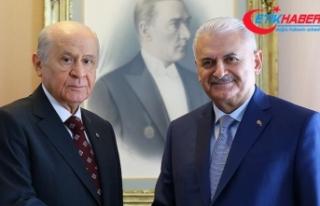 TBMM Başkanı Binali Yıldırım ile MHP Genel Başkanı...