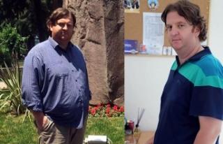 1 yılda ameliyatsız 42 kilo verdi