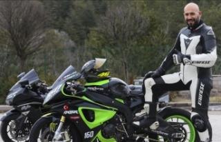 Ampute motosikletçi start almak istiyor