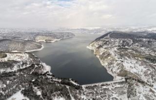 Ankara'nın barajlarında kar bereketi