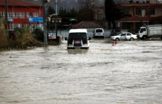 Asi Nehri taştı, evler su altında kaldı