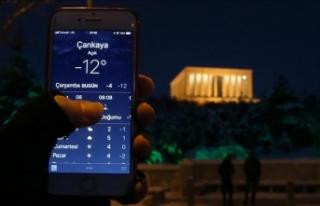 Başkentte soğuk gece