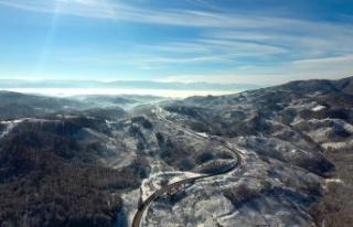 Batı Karadeniz 'beyaz örtü'yle büyülüyor