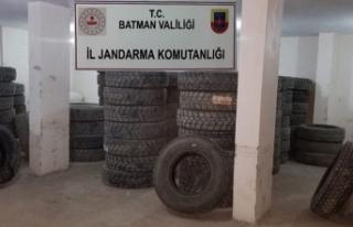 Batman'da 673 bin lira değerinde kaçak lastik...