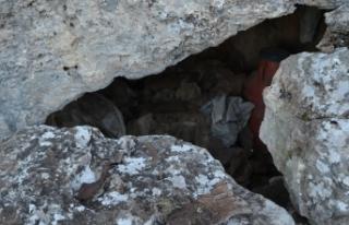 Batman'da kayalıklar arasına gizlenmiş patlayıcı...