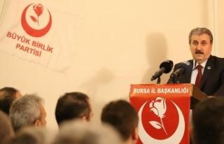 BBP Genel Başkanı Destici: Yerel seçimlerde Cumhur...