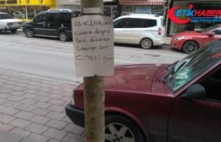 Bulduğu paranın sahibini ağaca astığı ilanla...
