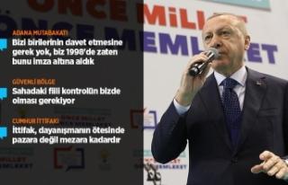 Cumhurbaşkanı Erdoğan: Güvenli bölge sözü yerine...