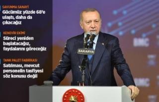 Cumhurbaşkanı Erdoğan: Savunma sanayindeki gücümüz...