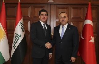 Dışişleri Bakanı Çavuşoğlu Neçirvan Barzani...