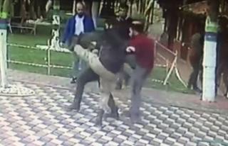 Genç kıza laf atıp, erkek arkadaşını döven...