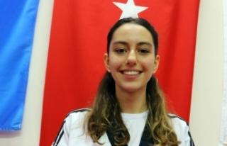 Genç tekvandocu 5. Türkiye şampiyonluğunun sevincini...