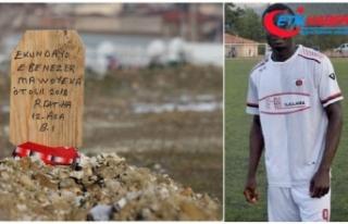 Hristiyan futbolcunun mezarına 'Ruhuna Fatiha'...