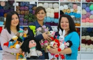 Kanserli çocuklar için organik oyuncak yapıyorlar
