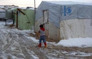 Katar'dan Arsal'daki Suriyeli mültecilere...
