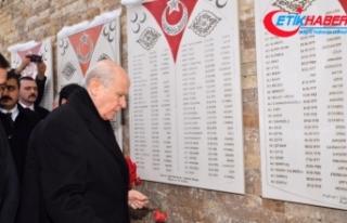 MHP Lideri Bahçeli Ülkücü Şehitler Anıtı'nı...