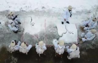 MSB komandoların karlı dağlarda yaptığı operasyonun...