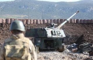 TSK Suriye'de YPG/PKK'lı teröristleri...