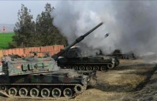 TSK Tel Rıfat'taki YPG/PKK'lı teröristleri...