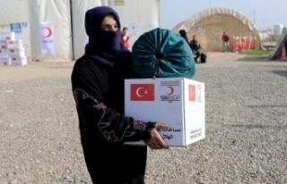 Türk Kızılayı'ndan Musullu sığınmacılara...