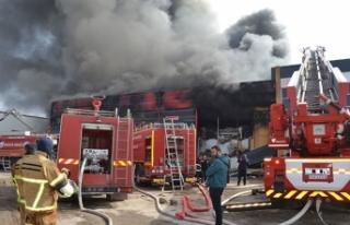 Aksaray'da et entegre tesisinde yangın; 6 işçi...