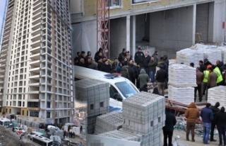 Ankara'da 17'nci kattan düşen inşaat...