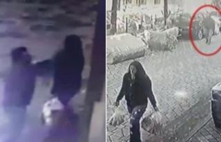 Bağcılar'da kadın öğretmene saldırı kamerada