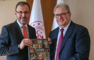 Bakan Kasapoğlu, Riccardo Fraccari'yi kabul...