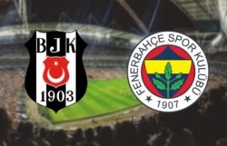 Beşiktaş - Fenerbahçe derbisinin ilk 11'leri...