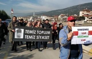 Bir grup CHP'linin Ankara'ya yürüyüşü...