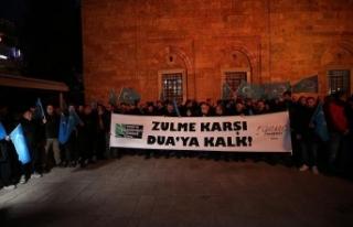 Çin'in Doğu Türkistan'daki zulmü protesto...