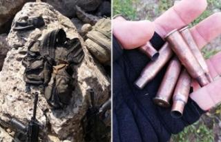 Cudi Dağı'nda teröristlerin kullandığı...