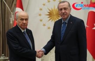 Cumhurbaşkanı Erdoğan, MHP Lideri Bahçeli ile...