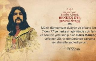 Cumhurbaşkanı Erdoğan'dan Barış Manço paylaşımı