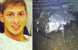Emiliano Sala'yı taşıyan uçağın enkazından...