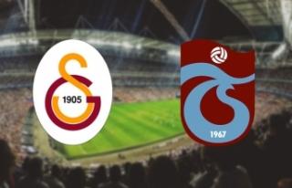Galatasaray - Trabzonspor maçında 11'ler belli...