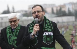 Gençlik ve Spor Bakanı Kasapoğlu: 5 bine yakın...