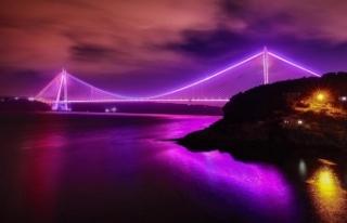 İstanbul'da köprüler epilepsiye dikkati çekmek...