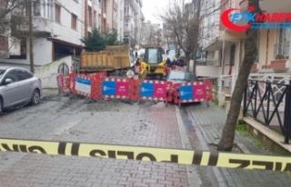 İstanbul'da altyapı çalışmaları sırasında...